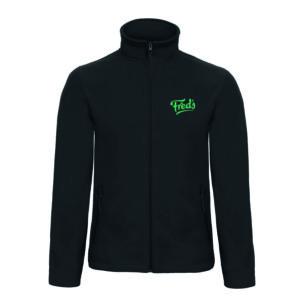 Fleece jacket Dames zwart Fred's