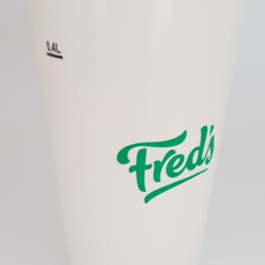 Beker milkshake Fred's